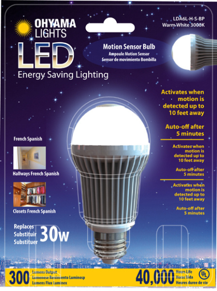 Motion sensor bulbs for home