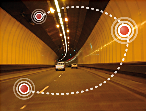 This tunnel has sensors that monitor the amount of air flow and visibility as well as the presence of gas emissions.