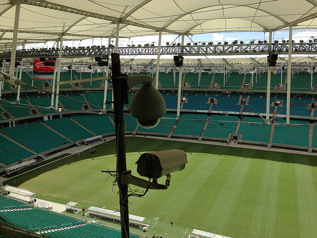 Many cameras in the stadiums for the 2014 world cup in HD can show clothes, local and expressions of problematic people