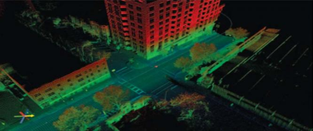 3D structural sensing using Laser radar technology in Lahore University of Management Sciences.