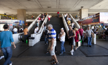 Sensors were installed on escalators bus station from Brasilia to help save energy. They work according to the amount of people. Thus, in pe
