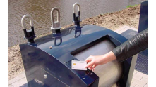 smart garbage bin, with a personalized RFID card.