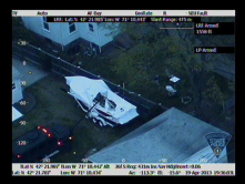 Boston Marathon bomber caught using heat sensor camera by helicopter.