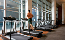 Treadmills have both a speed sensor and heart rate control sensor.