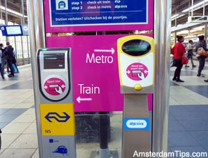 RFID card reader for train and subway