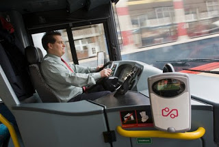 RFID card reader on the buses