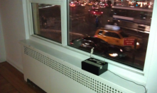 This sensor is being placed near the windows to sense the vehicles going by.