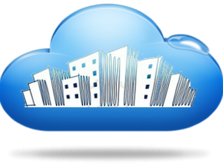 city inside cloud