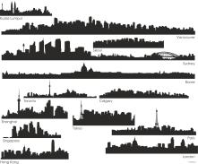 Profiles of cities.