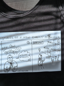 a Sketch: Stories of a Cookies' Monster<br/>an ordinary man with an ordinary smartphone in an ordinary smartcity<br/>not technical yet printable