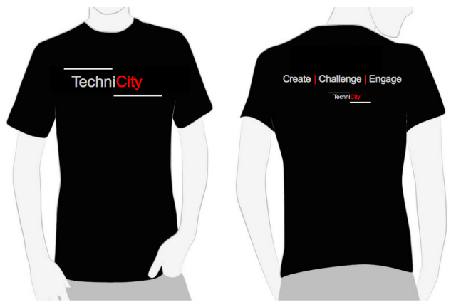 TechniCity TShirt - Simple and Black Like That !