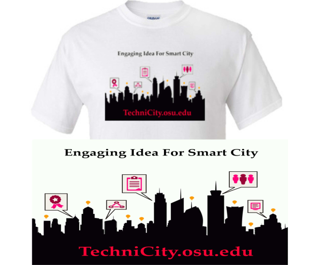 Technicity engaging idea for smart city (city vector by: http://yoursourceisopen.com/)