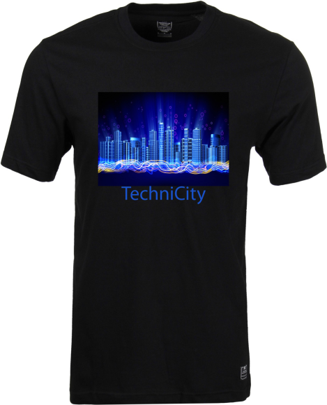 This T-shirt show us the concept of a Smart-city.