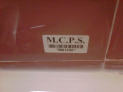 Asset management barcode stickers