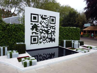 QR Code Garden at  RHS Chelsea Flower Show 2012 http://www.qrcodegarden.co.uk/about-the-garden/