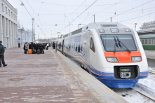 High speed train Allegro, Saint-Petersburg - Helsinki.<br/>Inter-cities technologies.
