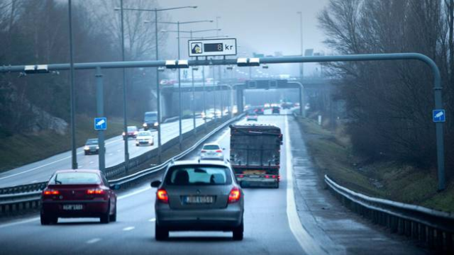 Congestion fee in the city of Gothenburg, Sweden based on video surveillance. Any car passing by these checkpoints is automatically charged.