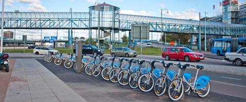 Gothenburg - rent smart bikes from one of 60 strategically placed stations around the city. First 30 minutes are free!