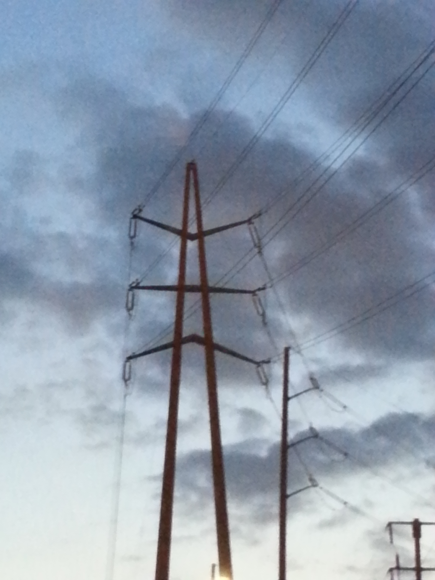 Power lines Santa Monica, California