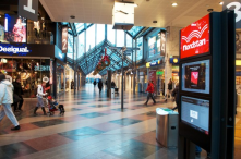 Gothenburg - find your way in the shopping mall with the help touch interfaces placed at every crossroads.