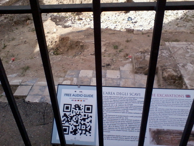 Archeological  Ruin with QR interactive, Italy.