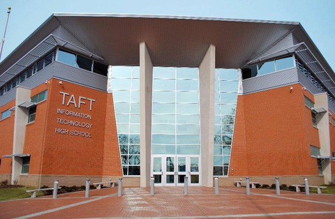 Taft High School in Cincinnati's Public Schools is the first school in Ohio to receive LEED platinum certification.