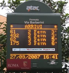 Public transport real time info in Rome