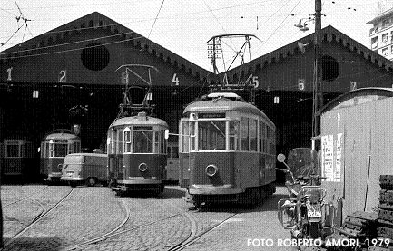 Public transport 'tram' in Rome of '60