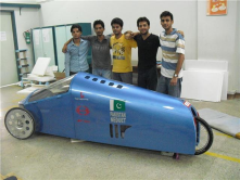 Fuel Cell powered car developed by engineering students.