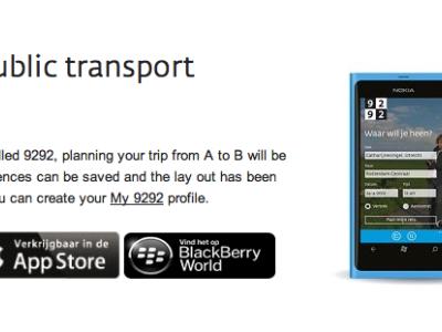 9292 local public transport planner