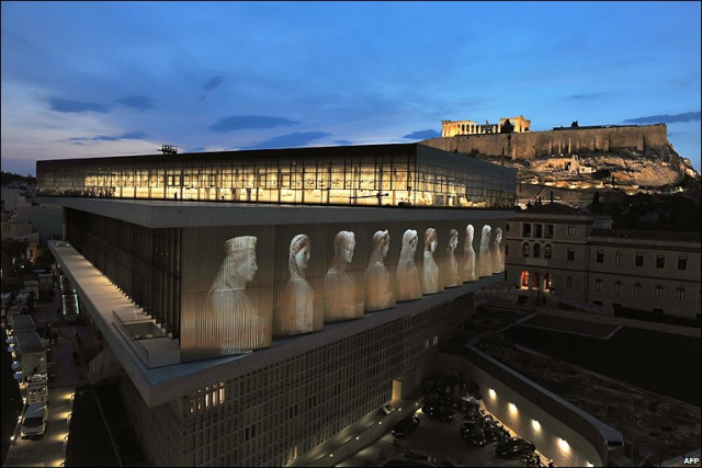 The Acropolis Museum is built under the holy rock of Acropolis. There is a technique of letting the light into the halls.