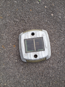 Second view of parking sensor. A magnetic sensor to show which place is available or busy. Courtesy of iParkings www.
