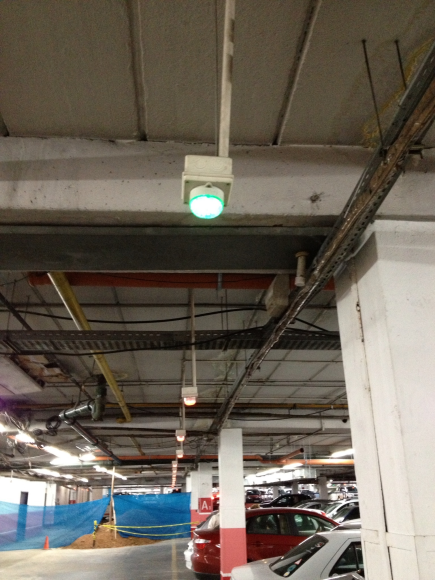 At parking Mall. This place is empty. Sensor light is green