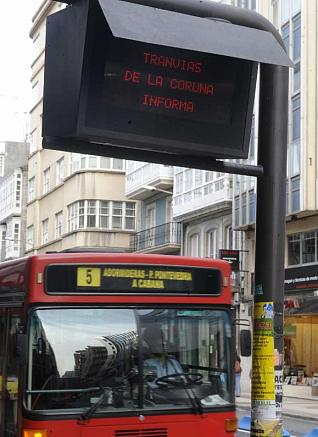 Post of information of buses