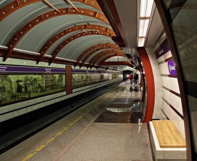 Underground in Saint-Petersburg.