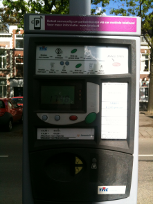 For paying for parking, but it is also possible to pay via mobile phone
