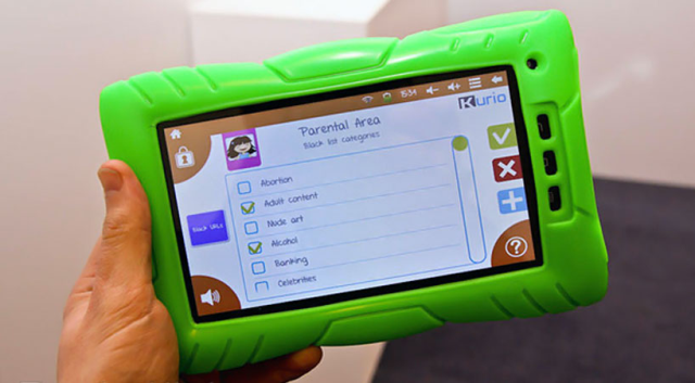 'kurio' is a childen's tablet that was exhibited at london's toy fair 2012. Unlike similar products, the device includes wi-fi for web acces
