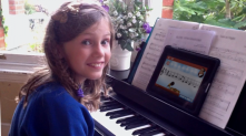 Music app uses note recognition to help children with music their music.
