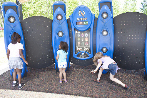Neos electronic play system Teaching tool + exercise + fresh air + group interaction + problem solving  (source: anne davis)