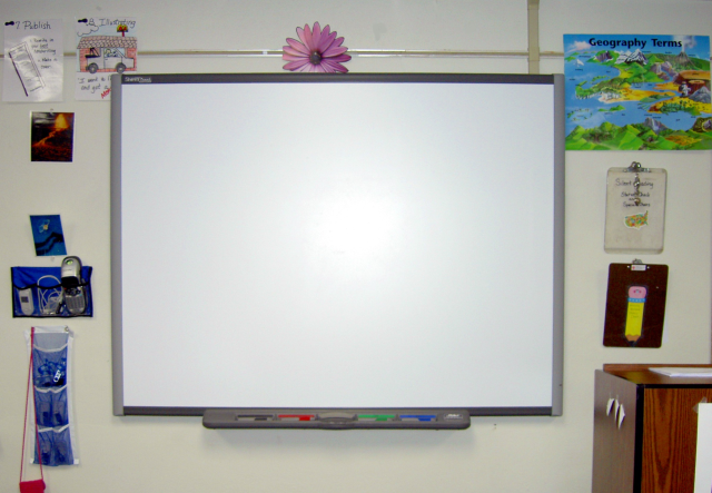 Smart boards in classrooms.