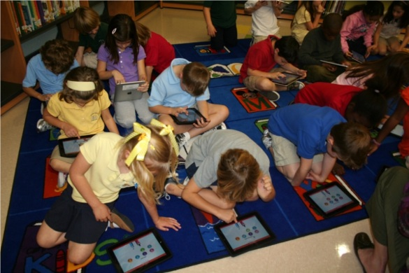 Each student have their own Ipad to use in grade schools.