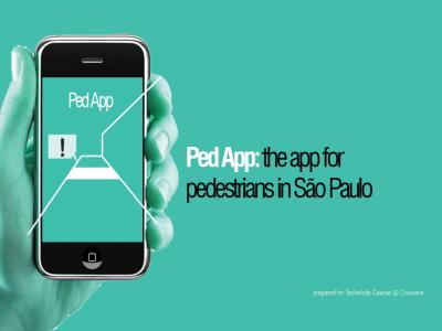 PedApp: the App for Pedestrians!