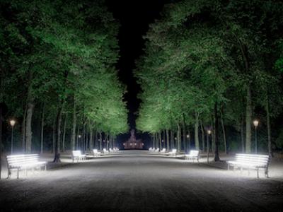 Illuminated benches in Düsseldorf
