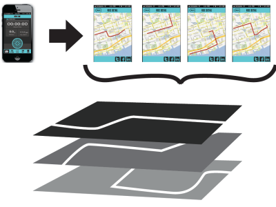 Mapping Bicycle Movement Via Smartphones - Mobile App Design