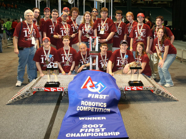 Robotics team Massachusetts Academy of Math & Science for high school students