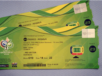 FIFA smart-label ticket with RIfd
