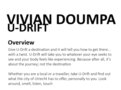 U-Drift: A personalized drifting app for Utrecht
