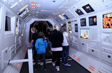 Universeum museum, Gothenburg, Sweden - children can learn about outer space by visiting a toy space shuttle.