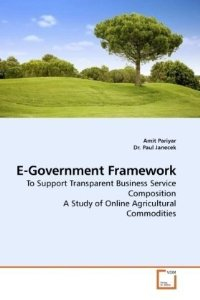 Related to my book on e-government that focus on agriculture