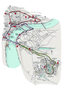 This is a map of how a monorail system could serve to unite both sides of the Connecticut River.